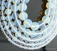 96 pz / lotto 12mm perline pietra di luna branelli allentati semi-preziose perle di pietra opale gioielli fai da te fare