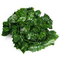 12шт 2м искусственный виноградный лист ротанга имитация растений лозы украшения дома