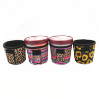 Neoprene Ice Cream Titular Leopard Cactus girassol Impresso isolamento térmico pode refrigerador Tampa Cup OOA7610-6 Titular