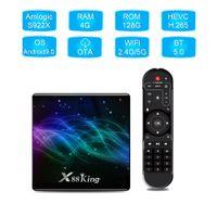 أحدث أندرويد 9.0 X88 King TV Box Amlogic S922X HEXA-CROOR المدمج في 4GB / 128GB 2.4G / 5.8GWIFIBIBT Smart Media Player HGS