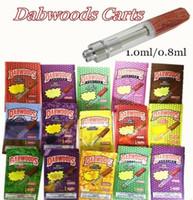 DABWOODS Vape Cartucce di legno Drip Tips DabWoods Carts 1 ml 0,8 ml di ceramica Coil Vape cartucce confezione sacchetto 510 vaporizzatore 13 tipi borse