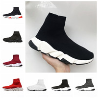 19SS Green Speed ​​Trainer ACE Designer Casual Socken Schuhe Weiß Schwarz Rot Triple S Fashion Luxury Socken Designer Sneakers Trainer Größe 45