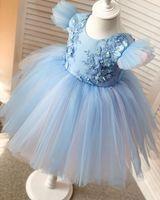 2020 Cheap Lace Flower Girl Dresse Cap Sleeves Little Girl Wedding Dresses Cheap Communion Pageant Dresses Gowns F316