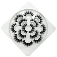 7 paia di ciglia finte ciglia finte naturali / di spessore lungo 5d faux visone ciglia estensione del ciglio fatto a mano per il trucco di bellezza 36 stili