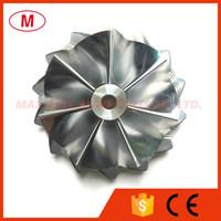 K04 5306-123-2014 46,39 / 56.08mm 7 + 7 lames Turbo compresseur roue billettes / Aluminium 2618 / roue de fraisage pour 5304-970-0064 Turbocharge Cartouche