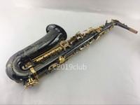 Yanagisawa A-991 Alto EB Tune Saxophon Messing Black Nickel Body Gold Lack Key Musical Instrument Sax mit Fall Mundstück Zubehör