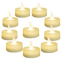 """SXI 24 Упаковка Теплый белый аккумулятор светодиодный чайные огни Беспламенный мерцающий Tealight Dia 1.4 """"Электрическая поддельная свеча для вожной свадьбы"""
