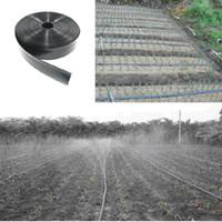 50/100/200 Metre Rulo Sulama Sistemi Yassı Damla Hattı Bahçe Yumuşak Damla Teyp Sulama Kiti N45 / 1 '' 3 Delik Hortum