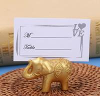 Porte-cartes titulaire de la table porte-nom de mariage chanceux or éléphant Place faveurs cadeau décoration parti SN2060