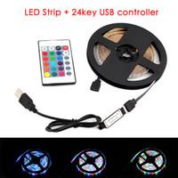 Водонепроницаемый 2835 DC 5V USB Светодиодная лампа RGB Ride Lights 1 - 5 м Теплый белый / белый / RGB светодиодная полоса подсветка телевизор Подсветка Подсветка Гибкая лента AmbiLight