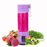 Hogar 380 ml Licuadora personal Mini licuadora portátil Vasos exprimidores USB Botella exprimidora eléctrica Herramientas de frutas y verduras