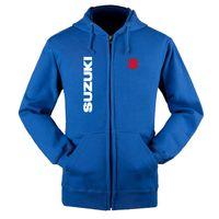 Толстовки Мужские Suzuki автомобиль логотип печати случайные длинный рукав с капюшоном, толстовки Мужские на молнии куртки человек толстовка одежда