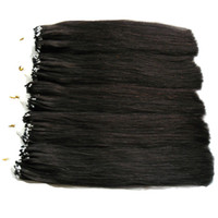 Extensões do cabelo do laço do anel do micro 100% cabelo humano real 100G Extensões do cabelo humano do anel do laço do micro em linha reta brasileiro de Remy
