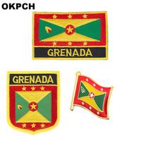 Distintivo della bandierina della bandierina della Grenada 3pcs un insieme delle toppe per l'abbigliamento Decorazione di DIY PT0068-3