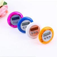 LCD numérique Minuteur Portable Alarme ronde Compte à rebours magnétique Horloge minuterie avec support outil de cuisine Violet ak064