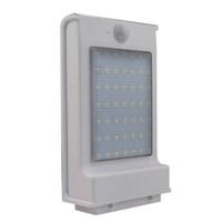 49 مصباح الجدار الخفيف الشمسي المصباح الأبيض مع جهاز استشعار جسم الإنسان مراقبة الشارع مشرق قليلا