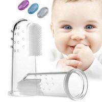 3 Farben-Baby-Finger-Zahnbürsten Säugling Silikon Zähne Gum Zunge Beißring Reiniger