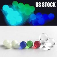 30 PCS 5 mm 6 mm 8 mm de cuarzo Terp Dab Perlas bolas luminosas brillan intensamente Azul Verde Claro cuarzo de la perla para el cuarzo Banger Uñas de vidrio Bongs Dab Rigs