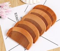 صديقة للبيئة الخشب مشط 200PCS رخيصة الخوخ الطبيعي خشبي مشط اللحية مشط الجيب فرشاة الشعر يمكن طباعة شعار