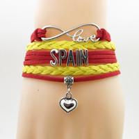 love spain Bracciale cuore Charm love spagna country bracciali bangles per donna e uomo gioielli