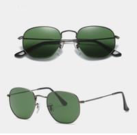 Marka erkek Güneş Gözlüğü Altıgen güneş gözlüğü Cam Lensler Güneş Gözlükleri Shades Erkekler Kadınlar UV400 Orjinal Kutusu ile En kaliteli Güneş Gözlüğü 3548