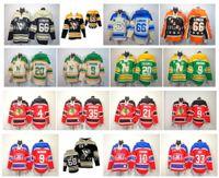 Vecchio tempo Felpa con cappuccio Hockey Jersey Pittsburgh Pinguini Mario Lemieux Mike Modano Minnesota Stelle del Nord Jaromir JagR JagR Dino Ciccarelli Pullover