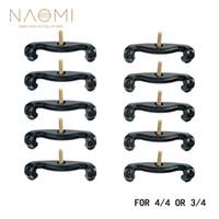 NAOMI Épaulière Pieds 10PCS Violon Épaulière Pieds Pour 3/4 4/4 Violon Couleur Noire Violon Pièces Accessoris