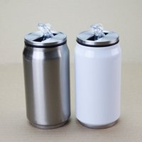 DIY Sublimation 9oz Cola Can with 2 Types Lids 280ML White S...