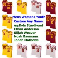 Camisolas de Basquetebol da USC Trojans College Harold Miner Jersey Sam Clancy Jr. Taj Gibson Bill Sharman O. J. Mayo 11 McLaughlin Custom Stitched