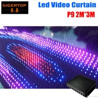 P9 2M*3M PC Mode Led Video Curtain Free Shipping with online PC dmx Controller for DJ Wedding Backdrops Event Nightclub LED Vision Cloth