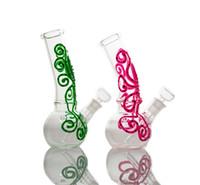 """Browahs de poulpe fluorescentes lueur dans les bangs de verre foncé Nectar Collector 7.7 """"Petite mini bécher Bong Tuyau d'eau Luminous DAB"""