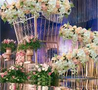 50 cm DIY çiçek satır Acanthosphere Gül Okaliptüs düğün dekor çiçekler gül şakayık ortanca bitki karışımı çiçek arch yapay çiçek satır