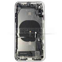 For iPhone XR Middle Frame Chassis Battery Cover Back Door G...