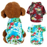 Dog Clothes Summer Beach T Shirt Small Vest Print Hawaii App...