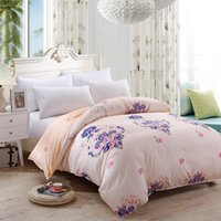 Luxury Beige Rose Flower Printed Duvet Cover 1pc Cotton Quil...