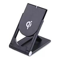 Qi Kablosuz Şarj Ayarlanabilir Q11 iPhone 11x8 Için Standı Dock Katlanır Telefon Tutucu Samsung S8 S9 S10 için Not Kablosuz Şarj Pad MQ20