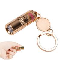 Lanterna à prova d 'água Portátil LEVOU Lanterna de Alumínio de Ouro Prático Mini Tocha Lâmpada Handheld Acampamento Chaveiro Luz Para O Presente de Natal
