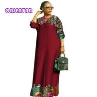 2018 new african dresses for women Fashion Design dashiki women bazin riche  o-neck long loose dress dashiki plus size 6xl WY2879 4a626f85cba0