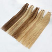 Saç Uzantıları için Üst Sınıf Bant 40 adet / paket Remy Saç Cilt Atkı Renkler Sarışın Çift Tarafı Yapışkan Brezilyalı Hint İnsan Saç