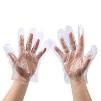 Guantes desechables de plástico desechables de preparación de alimentos Glof PE PolyGloves para cocinar limpieza Manipulación de Alimentos Herramientas de limpieza del hogar mano protege