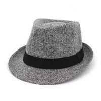 Hombres Mujeres Sun Jazz Hat Topee Sunbonnet con Cinta ancha Moda Primavera Otoño Verano Masculino Femal Fedora Hat
