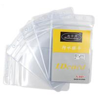 10 PCS / Set PVC Vertical Lanière Titulaire Carte de travail Soft Soft Transparence Soft Transparency Employé Sacs Badges Badges BR2520 CY