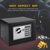 جديد الإلكترونية الرقمية الصندوق الآمن لوحة المفاتيح قفل الأمن الرئيسية مكتب مجوهرات النقدية السفينة سوداء من الولايات المتحدة الأمريكية
