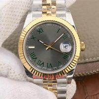 Mens Watch Diamonds 41mm Sapphire Dial Date de Mouvement automatique en or rose en acier inoxydable Montres Hommes Mécanique Hommes Montres-bracelets