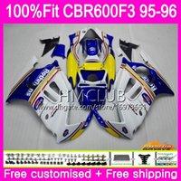 100% Fit Einspritzung Für HONDA CBR600RR CBR 600F3 CBR 600F3 95 96 77HM.20 CBR600FS CBR600F3 FS CBR600F3 1995 1996 Rothmans Blue OEM Verkleidung