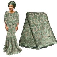 Tecido de renda nigeriano africano de alta qualidade para o casamento 2019 laços de tecido de tecido tecido de renda árabe francês com contas BF0027