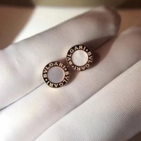 S925 pure silver charm stud Earrings with white shell and bl...