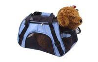 5 color Tamaño M Plegable Pet Carriers Bolsa Portátil Mochila Suave Suave Transporte del perro Bolsas al aire libre Moda Perros Cesta Bolso ST386