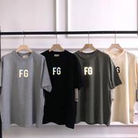 2020 أوروبا الهيب هوب كول الخوف من الله FOG FG 3M عاكس T قميص سكيت كول القميص الرجال النساء الولايات المتحدة الأمريكية الحجم القطن قصير الأكمام المحملة