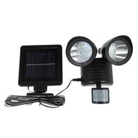 Çift kafa pir motion sensörü güneş işık 22 led açık bahçe acil ışıklandırmalı spotlight için güneş lambası sokak duvar ışıkları